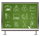 School and education objects - vector illustration