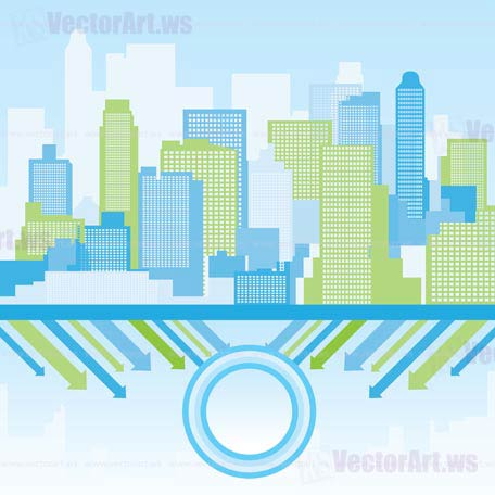 wallpaper vector blue. green and lue city ackground