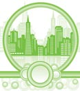 green city background  - Vector illustration