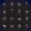 Simple Online Shop icons - Vector Icon Set