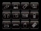 Line Hi-tech technical equipment icons - vector icon set 3