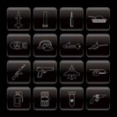 Line weapon, arms and war icons - Vector icon set