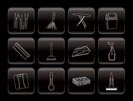 Home objects and tools icons - vector icon set
