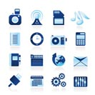 Phone Performance, Internet and Office Icons - Vector Icon Set