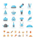 shop, food and drink icons - vector icon set 2