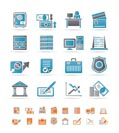 bank, business, finance and office icons - vector icon set