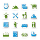 Hotel and motel icons - Vector icon Set