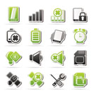 Mobile Phone sign icons - vector icon set