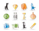 Simple Luxury party and reception icons - vector icon set