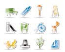 Park objects and signs icon - vector icon set
