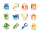 website, internet and computer icons - vector icon set