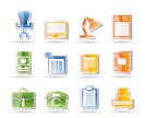 Simple Business, office and firm icons - vector icon set