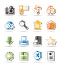 Simple Internet and Website Icons - Vector Icon Set