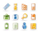 Business and Office tools icons - vector icon set 3
