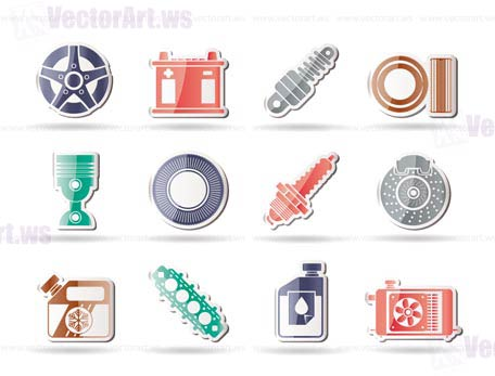 Car Parts and Services icons - Vector Icon Set 5