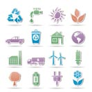 ecology and environment objects - vector illustration
