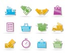 Shipping and logistic icons - vector icon set