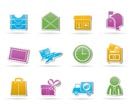 Post, correspondence and Office Icons - vector icon set