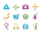 car and transportation equipment icons - vector icon set