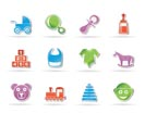 baby and children icons - vector icon set
