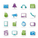 Communication and media icons - vector icon set