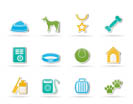 dog accessory and symbols icons - vector icon set