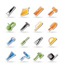 Construction and Building Tools icons - Vector Icon Set