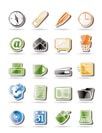 Simple Office tools icons - vector icon set 2