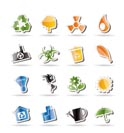 Simple Ecology and Recycling icons - Vector Icon Set