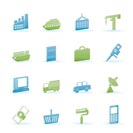 Industry and Business icons - vector icon set