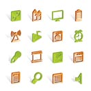 Mobile phone  performance, internet and office icons - vector icon set