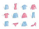 Clothing internet Icons - Vector Icon Set