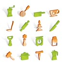 Kitchen and household tools icons - vector icon set