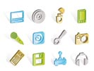 Computer and mobile phone Equipment Icons - Vector Icon Set