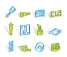 Realistic Car Parts and Services icons - Vector Icon Set 2