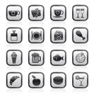 Food, Drink and beverage icons - vector icon set
