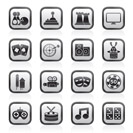 entertainment objects icons - vector icon set
