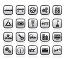car services and transportation icons - vector icon set