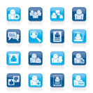 Social Media and Network icons - vector icon set