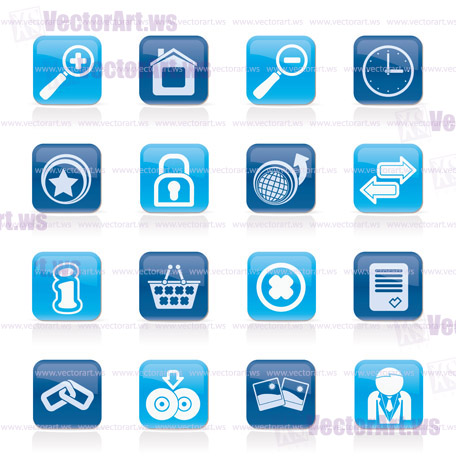 Web Site and Internet icons - vector icon set