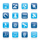 science, research and education Icons - Vector Icon set