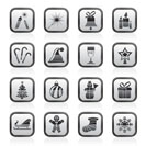 Christmas and new year icons - vector icon set