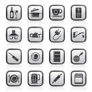 kitchen objects and accessories icons- vector icon set