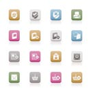 Internet and Website buttons and icons -  Vector icon set
