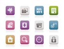 Computer and website icons - vector icon set