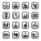 Spa and relax objects icons - vector icon set