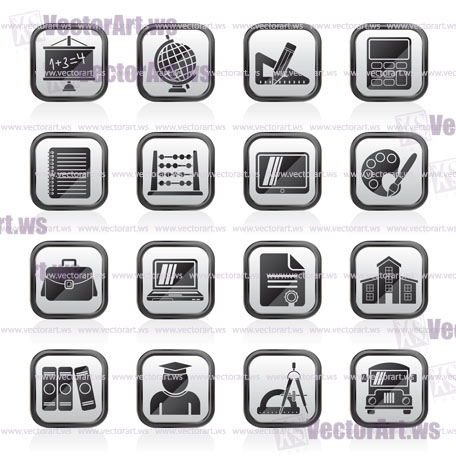 School and Education Icons -vector icon set