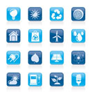 Ecology, nature and environment Icons -vector icon set