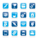 Cooking Equipment Icons  - vector icon set