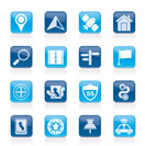 Gps, navigation and road icons - vector icon set